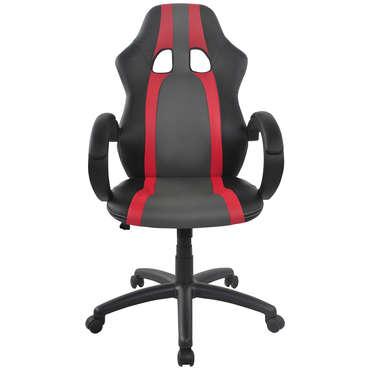 Fauteuil de bureau bicolore ASTON coloris noir/ rouge