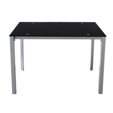 Table rectangulaire 110 cm  CHARLEN coloris noir
