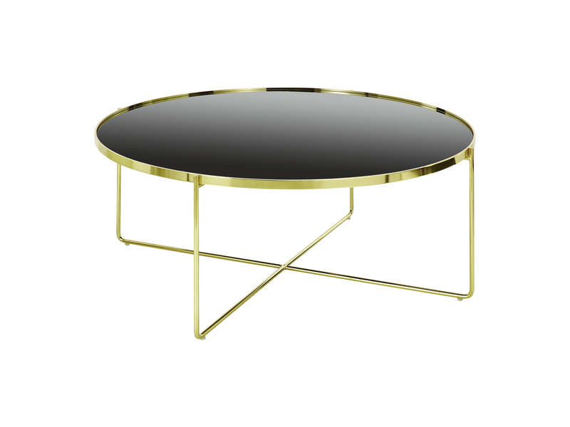 Table Basse Goldy Coloris Noir Et Doré Vente De Table