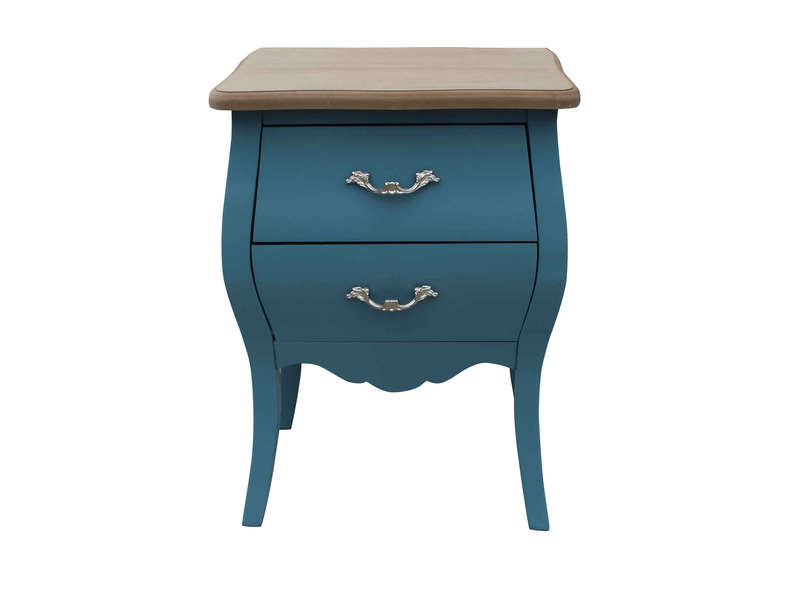 Commode 2 Tiroirs Vivaldi Coloris Bleu Vente De Commode Conforama