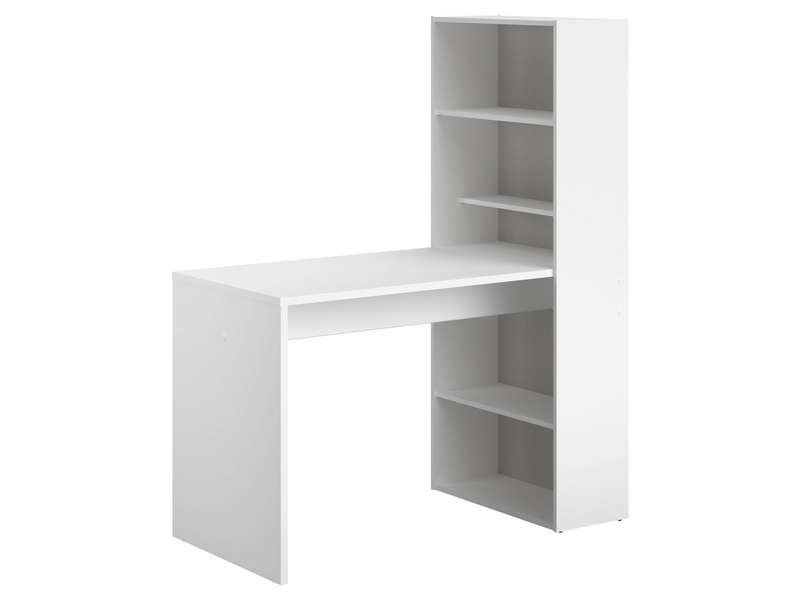 Meuble informatique 123 cm willow coloris blanc vente de bureau