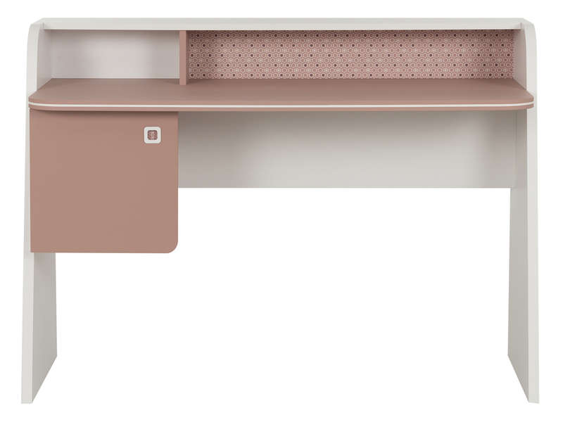 Bureau cm april coloris rose ombré blanc vente de bureau
