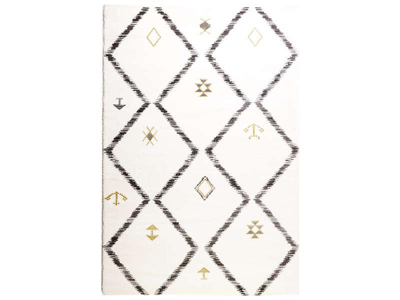 Tapis 200x290 cm LYA coloris blanc/gris