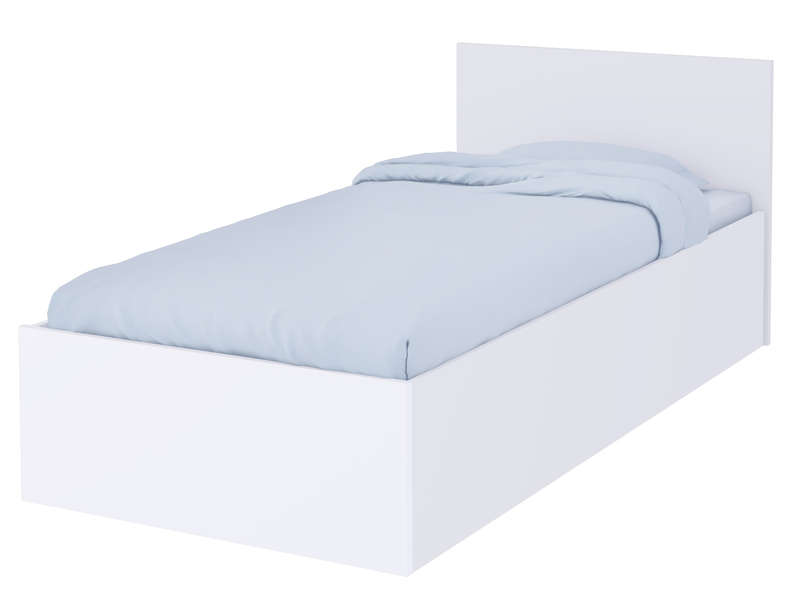 Lit Coffre 90x200 Cm ALLIGATOR Coloris Blanc