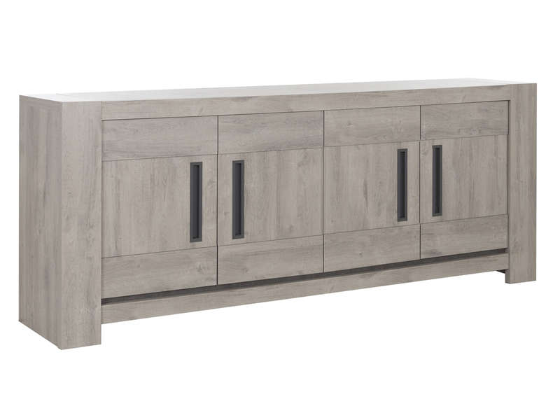 Buffet 4 Portes Boston Coloris Ch Ne Gri Clair Vente De Buffet Bahut Vaisselier Conforama