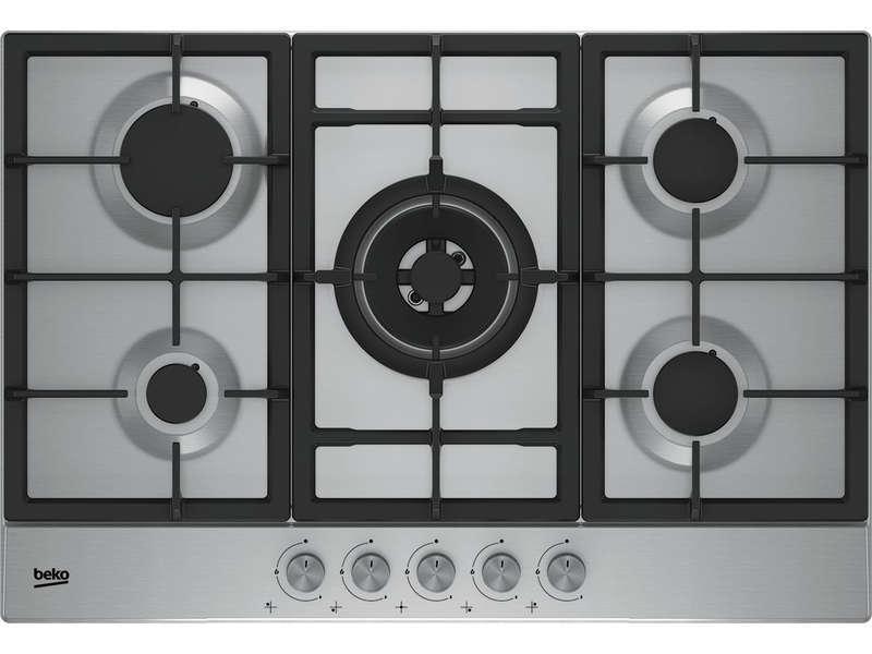 Table de cuisson gaz BEKO HIAW75225SX