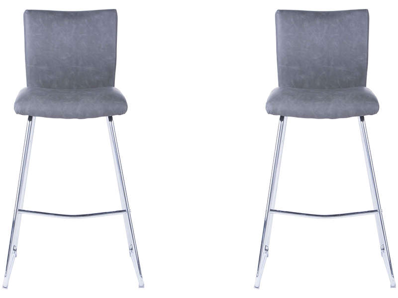 Lot De 2 Tabourets Bill Coloris Gris Vente De Bar Et Tabouret De Bar Conforama