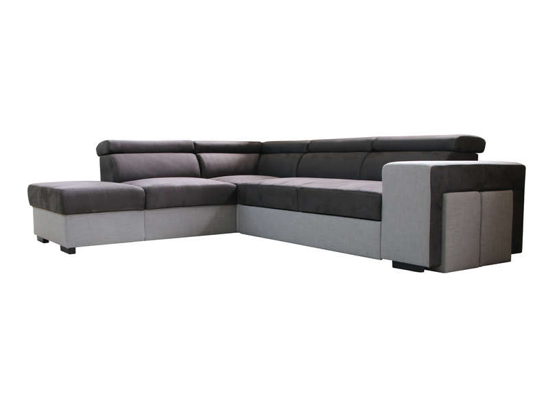 Canape D Angle Convertible 4 Places Crawford Coloris Gris Vente De