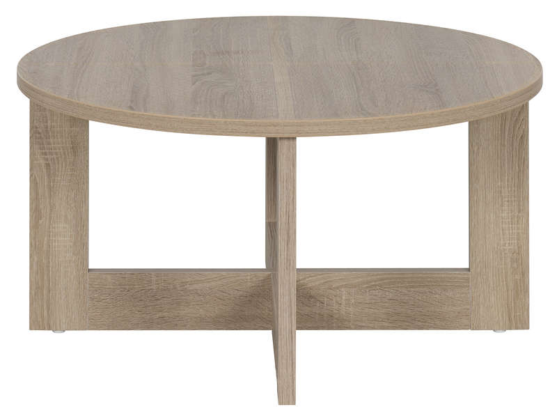 Table basse ronde TIKA coloris naturel - Vente de Table et chaises ...