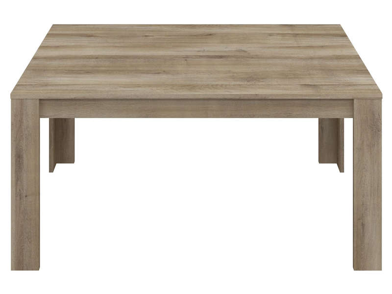 Table 160 cm (allonge en option) ANGEL coloris chêne naturel