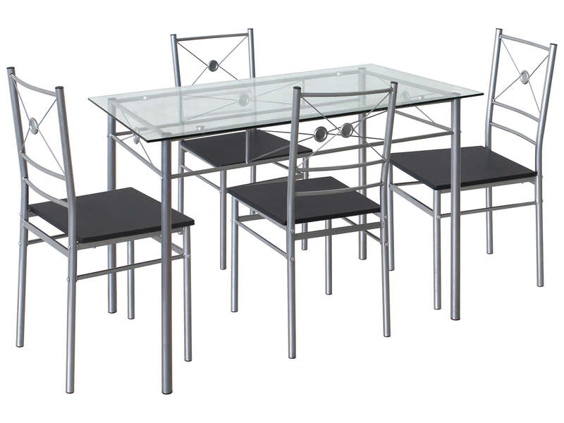 Ensemble table 4 chaises de cuisine saigon vente de ensemble table et chaise conforama for Chaise et table de cuisine