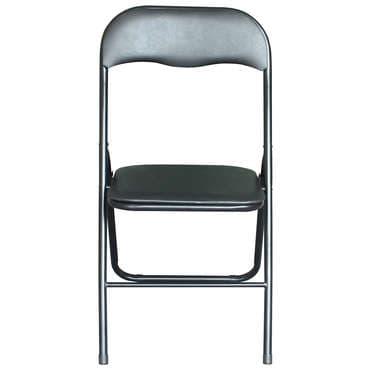 Chaise pliante LILAS coloris noir