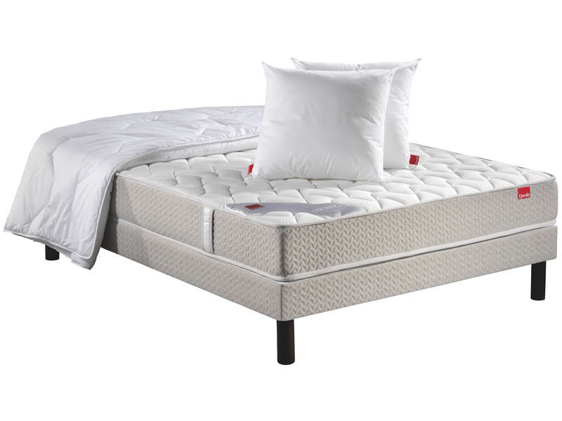 matelas ressorts sommier 160x200 cm couette 2 oreillers epeda poesie vente de ensemble. Black Bedroom Furniture Sets. Home Design Ideas
