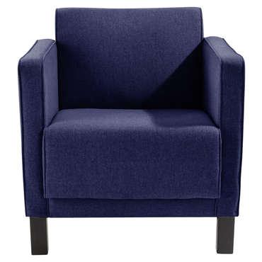 Fauteuil tissu SMITH coloris bleu