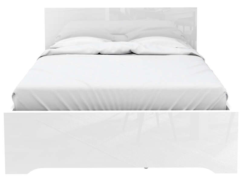 Lit Adulte 140x190 Cm Tempo 1 Coloris Blanc Brillant Vente