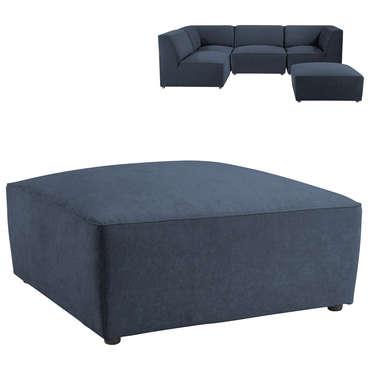 Pouf pour canapé modulable ALASKA coloris bleu