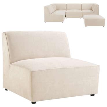 Fauteuil pour canapé modulable ALASKA coloris beige