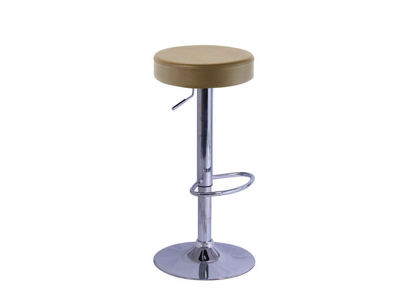Tabouret de bar RUMP coloris taupe