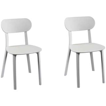 Lot de 2 chaises DETROIT coloris blanc