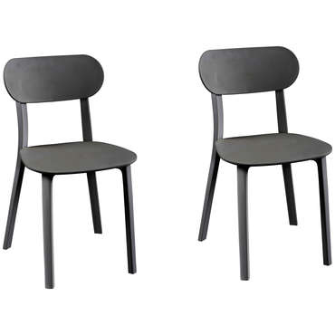 Lot de 2 chaises DETROIT coloris gris
