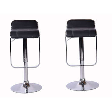 Lot de 2 tabourets MIKE coloris noir