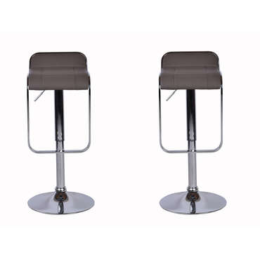 Lot de 2 tabourets MIKE coloris marron