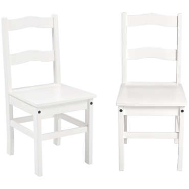 Lot de 2 chaises VITORIA coloris blanc
