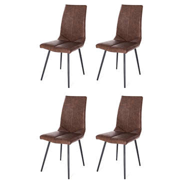 Lot de 4 chaises KATE coloris marron