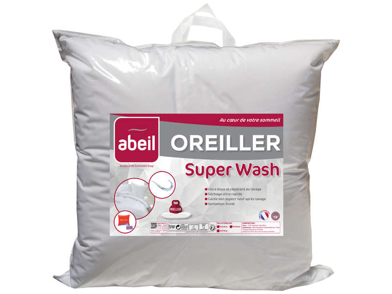 Oreiller carré 60x60 cm SUPERWASH