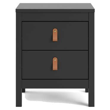 Chevet 2 tiroirs REAL coloris noir