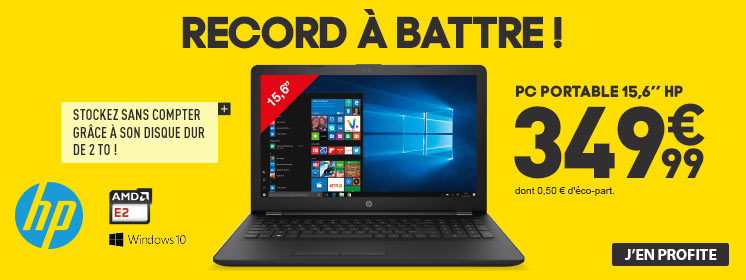 Record à battre ! PC HP 15,6'' 349,99€