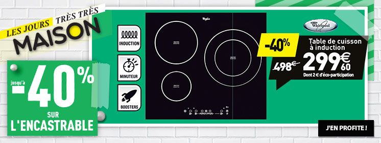 table induction whirlpool 299,60€